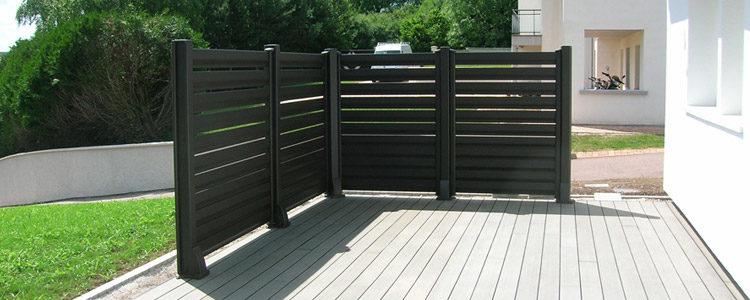 clôture brise-vue pour aménager