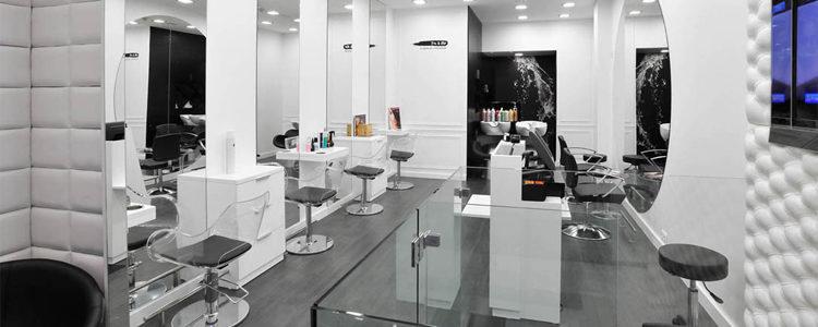 salon de coiffure avec style