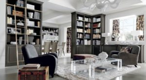 bibliotheque en bois noir