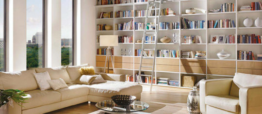 bibliotheque sur mesure en bois